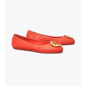 Tory BurchMINNIE 红色平底鞋
