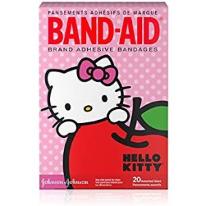 $2.30 (原价$7.75)Band-Aid Hello Kitty 超可爱透气创可贴 20片