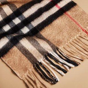 变相7.7折 $170起Reebonz 精选大牌围巾热卖 收巴宝莉经典格纹