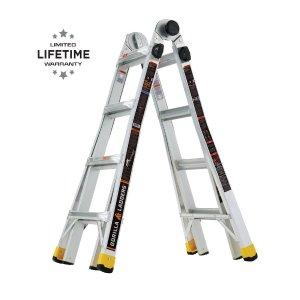 Gorilla Ladders 18 ft 铝合金伸缩折叠梯 可承重300磅