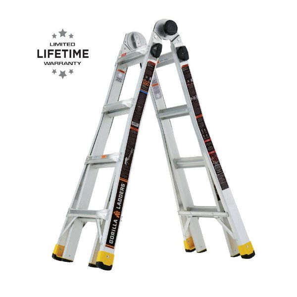 18 ft 铝合金伸缩折叠梯 可承重300磅