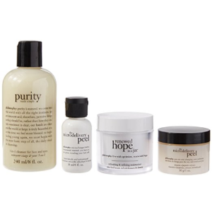 $58 Philosophy Cleanse Refine & Renew Kit, 4 Count