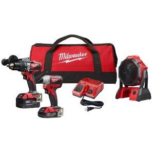 $199(原价$378)Milwaukee M18 18伏无绳无刷电动工具套装
