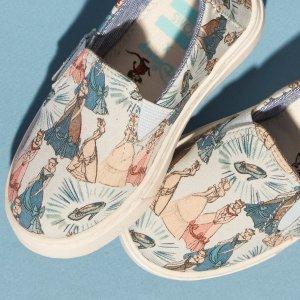 3折起 $17.99愿你脚尖都是公主梦Toms 迪士尼合作炸街款童鞋、凉鞋 仙气溢屏