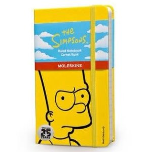 $4The Simpsons Ruled Notebook- Yellow