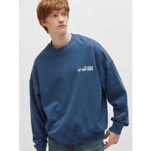 100%棉 码全海军蓝卫衣