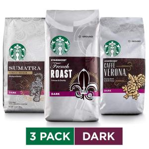 Starbucks 综合口味深焙咖啡粉 12oz 3包