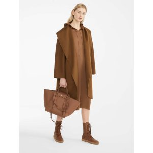 Cashmere coat, brown -