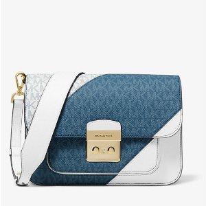 547223b4dab6 Michael KorsSloan Editor Two-Tone Logo and Leather Shoulder Bag. $246.00  $328.00. Michael Kors Sloan ...