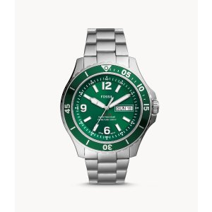 Fossil绿水鬼平替款~钢带腕表