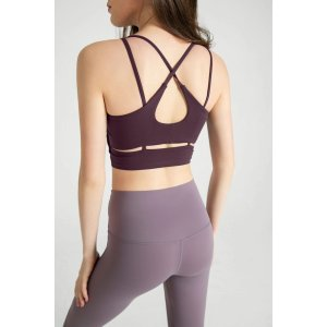 Purple Eggplant Cross Back 运动内衣