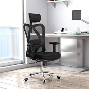 折后€161 有助于脊椎健康!SIHOO 电脑椅 符合人体曲线 头枕腰部都可调节 久坐小伙伴必备