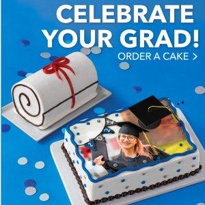 可定制颜色、文字、照片上新:Baskin Robbins 首次推出3款毕业主题冰淇淋蛋糕