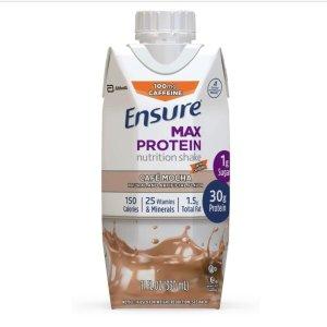 近期好价$15.93 每瓶$1.32Ensure 蛋白质营养奶昔 多口味可选 11oz 12瓶装