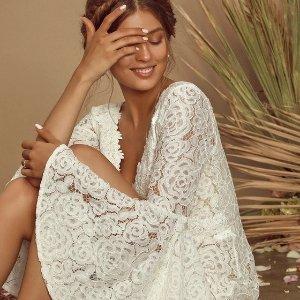$86收蕾丝婚纱裙新品上市:Lulu's 超仙白裙特卖 备一条重大场合不慌乱