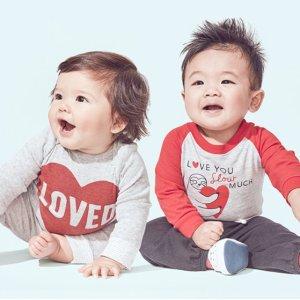 有机棉包臀衫$2.56起折扣升级:Carter's官网 早春童装低至3折+满额8折