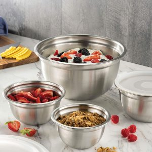 FineDine Premium Stainless Steel Mixing Bowls Set of 5