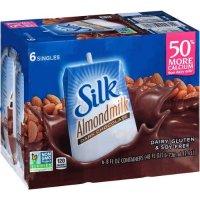 silk 黑巧克力杏奶 8oz,6 瓶装