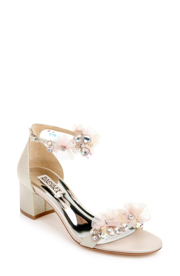 Candy Floral 低跟鞋