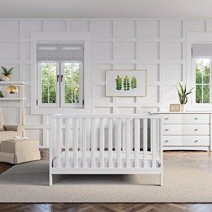 $179.99 (原价$229.99)Storkcraft Pacific 四合一 成长型婴儿床,4色选