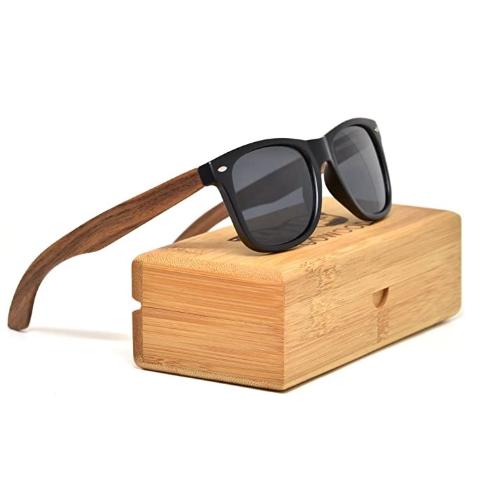 $47.2 两款颜色可选限今天:GOWOOD 木质拼接 偏振光太阳镜 每一款镜腿纹路都不同