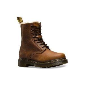 Dr. Martens1460 Serena Leather Faux-Fur Boots