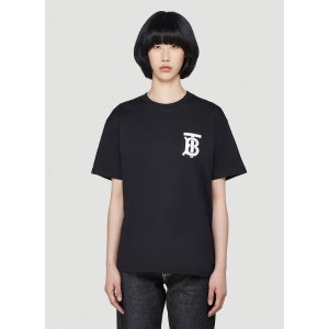 BurberryTB Monogram T-Shirt in Black