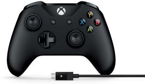 $47.49限今天:Microsoft XBOX One 有线手柄 黑色