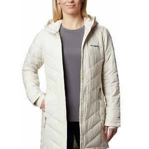 $69.96包邮(原价$199.99)Columbia 女款白色中长款棉服 L码特价 修身不臃肿