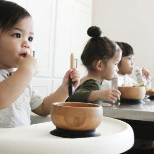8折 竹制碗勺套餐多色补货补货:Avanchy 儿童有机竹制、不锈钢制餐具促销