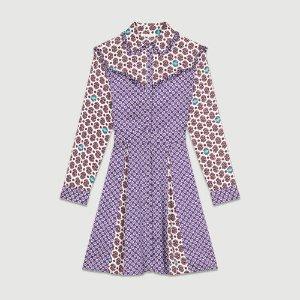 REED Printed satin dress - Dresses - Maje.com
