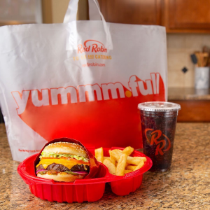 Get Kids' Meals for $1.99Red Robin Puchase Adult Entree for Pickup or Delivery