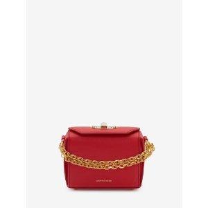 Women's Lust Red Box Bag 16 | Alexander McQueen