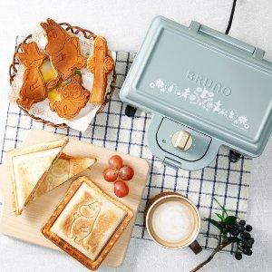 加拿大可用 直邮含税到手$287BRUNO 姆明款双格三明治机 超可爱松饼 口袋三明治在家做