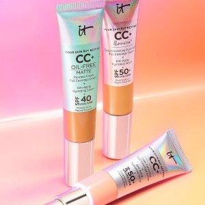 free 6-pc travel brush set + bonus brow power pencil samplewith any $90+ Order @ IT cosmetics