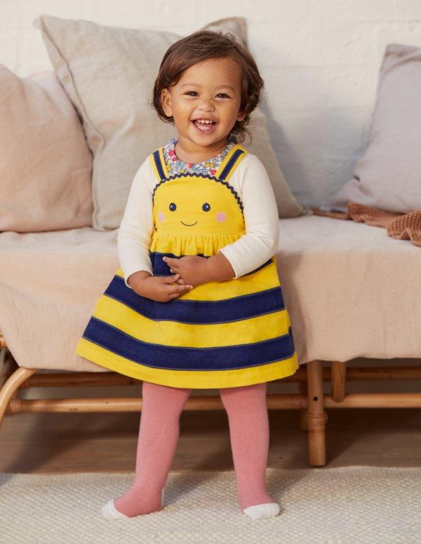 婴幼儿小蜜蜂背带裙