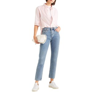 GOLDSIGNThe Benefit cropped high-rise straight-leg jeans