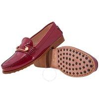 Tod's 酒红色平底鞋