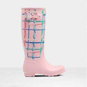 Hunter$50 Off When You Buy $250Women's Original Tall Rock Tartan Rain Boots