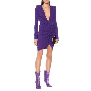 Alexandre Vauthier紫色深V裙