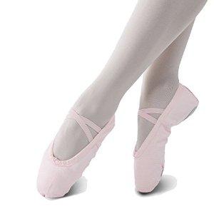 Amazon's Choice,789名用户3.9星好评STELLE 儿童布面练功鞋