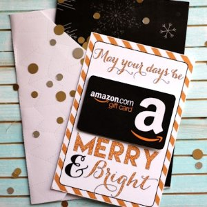 Gift Card for ChristmasGift Card delivered before Christmas @ Amazon