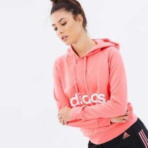 adidas Women's Essential Linear Pullover Hoodie