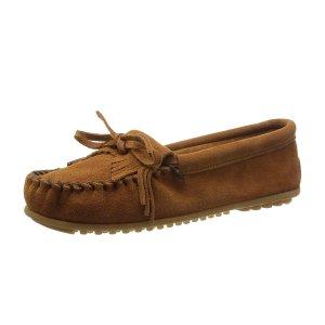 现价$25.59(原价$44.95)Minnetonka经典女士豆豆鞋热卖 黄金码