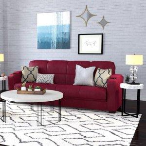 $258.3 (原价$499)Mainstays 布艺沙发床,红色