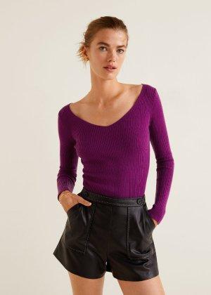 Ribbed knit sweater -  Women   MANGO USA