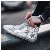 Golden Goose Deluxe Brand - Men's Leather Slide 高帮小脏鞋