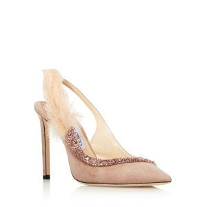 2a5c6ce7d732 Jimmy Choo Women s Romy 100 Suede   Metallic Leather High-Heel Pointed Toe  Pumps · Jimmy ChooWomen s Tacey 100 Embellished Suede Slingback Pumps