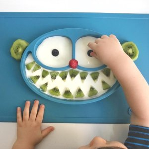 8折包邮+送精美儿童餐创意书ezpz 婴幼儿餐盘垫促销 超萌造型,让孩子爱上吃饭
