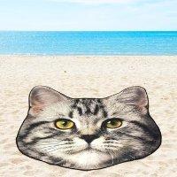 MAINSTAYS 猫咪头沙滩巾